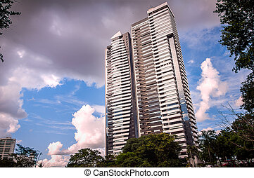 buildings under the blue sky