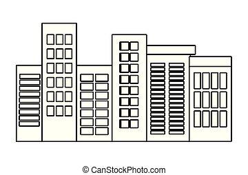 buildings view cartoon