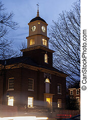 Builiding with clock tower in Dover, Delaware
