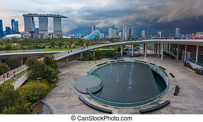 built across the mouth of the Marina Channel, the Marina Barrage creates Singapore%u2019s 15th reservoir, and the first in the heart of the city. With a catchment area of 10,000 hectares, or one-sixth the size of Singapore, the Marina catchment is the island%u2019s largest and most urbanised ...