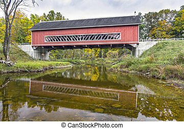Netcher Covered Bridge - Built in 1998, the Netcher Covered...