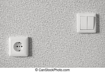 lamp switch and socket - built-in lamp switch and socket