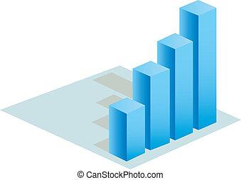 buiness, tabelle, vektor, statistik, 3d