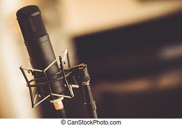 buis, studio, microfoon