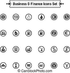 Buisiness icon set.