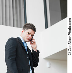 Buisnessman on the phone