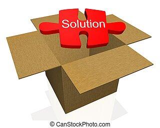 buiten de doos, oplossing