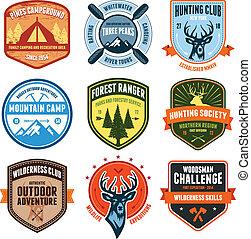 buiten, emblems
