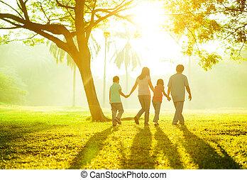 buiten, gezin