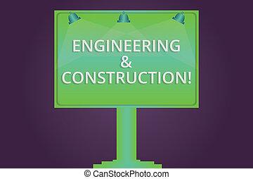buiten, kleurenfoto, leeg, een, techniek, signage, kennis, schrijvende , aantekening, lamp, verlicht, infrastructuur, zakelijk, het tonen, gemonteerd, advertenties, aan het dienen, leg., technisch, showcasing, construction.