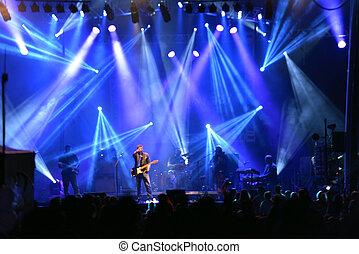 buiten, rockfestival, licht, achtergrond