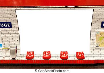 buitenreclame, in, metro