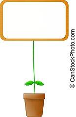 buitenreclame, plant