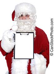 buitenreclame, whit, claus, kerstman