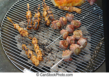 buitenshuis, barbeque, bbq, grill, feestje