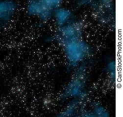 buitenst, sterretjes, ruimte