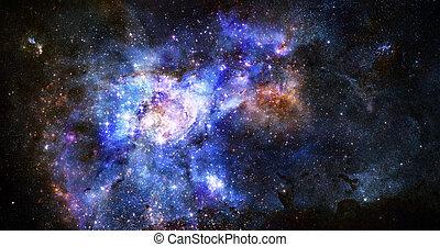 buitenste ruimte, nebula, gas, diep, wolk