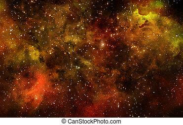buitenste ruimte, starry, nebula, diep, melkweg