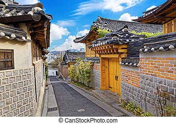 Bukchon Hanok Historic District at Seoul