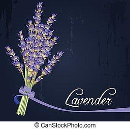bukett, lavendel
