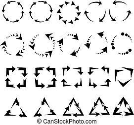 bukfenc, pictogram, nyílvesszö, felfrissít, aláír, reload, ikon, karika, forgás