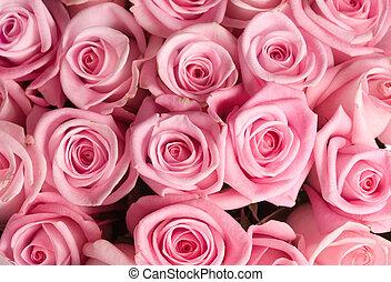 bukiet, cielna, róże