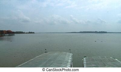Bukit Merah Lake town Landscape, Malaysia - Wide low-angle...