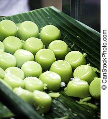 Buko Pandan Flavored Puto - A delicious buko pandan flavored...