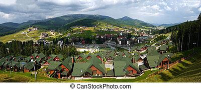 Bukovel ski resort in summer, Ukraine - Bukovel ski resort ...