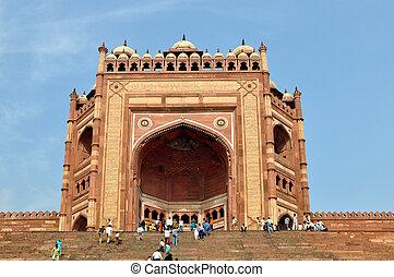 Buland Darwaza in Fatehpur Sikri, India - FATEHPUR SIKRI,...
