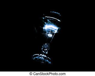 bulb., ライト, 黒, 隔離された, 背景