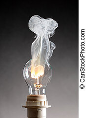 bulb and fire