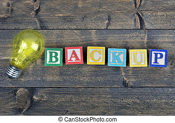 Bulb and word Backup