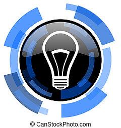 bulb black blue glossy web icon