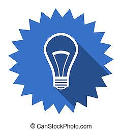 bulb blue flat icon