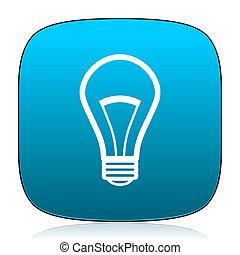 bulb blue icon