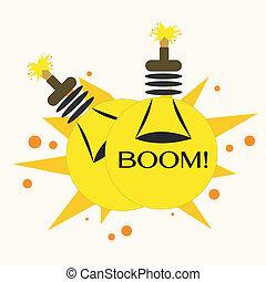 Bulb Bomb, Vector Illustration