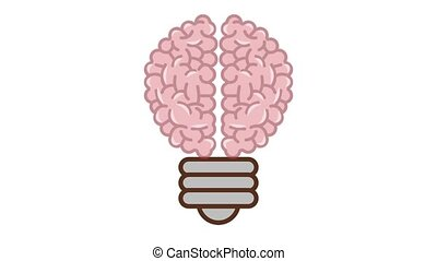 Bulb brain HD animation