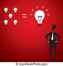 small idea join and make big idea stock vector