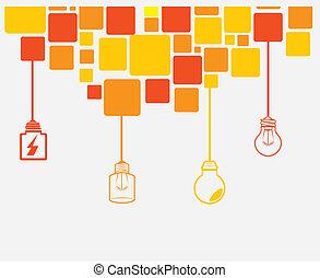 Bulb design over white background, vector illustration