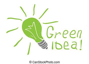 bulb drawing.Eco idea concept