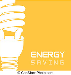 energy saving - bulb electric over yellow background, energy...