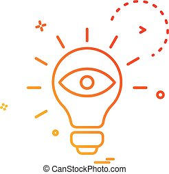 bulb eye icon vector design