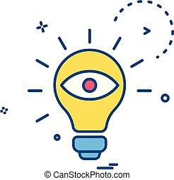 bulb eye icon vector design