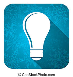 bulb flat icon, christmas button, idea sign