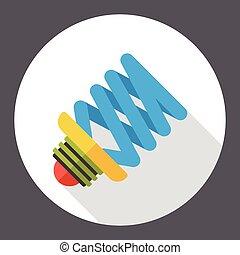 bulb flat icon