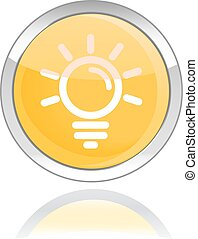 bulb glossy icon button