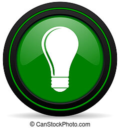 bulb green icon idea sign