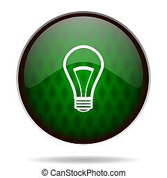 bulb green internet icon
