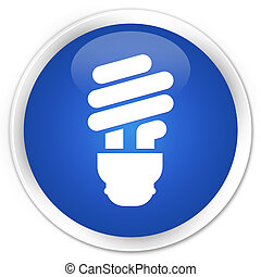 Bulb icon blue button